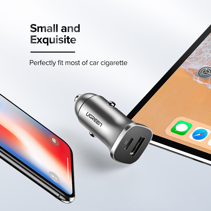 Image 5 - Ugreen Quick Charge 4.0 3.0 QC USB Car Charger for Xiaomi QC4.0 QC3.0 18W Type C PD Car Charging for iPhone 11 X Xs 8 PD Charger-in Car Chargers from Cellphones & Telecommunications