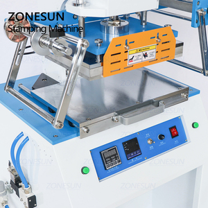 Image 2 - ZONESUN ZS 819D 2030 سنتيمتر هوائي شعار اسم بطاقة الجلود الحرارة الصحافة الساخن احباط ختم التجعيد ماكينة نقش مساحة كبيرة