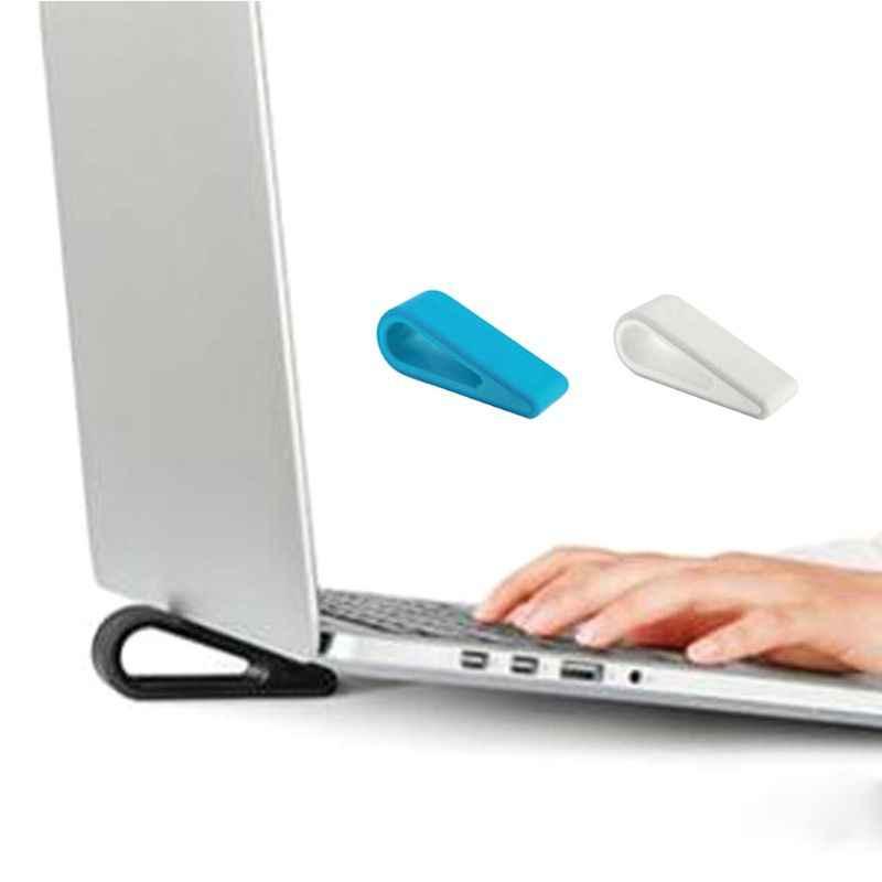 Suporte do portátil do silicone macio suporte ajustável desktop computador aumentou prateleira base de resfriamento almofada suporte para escritório em casa
