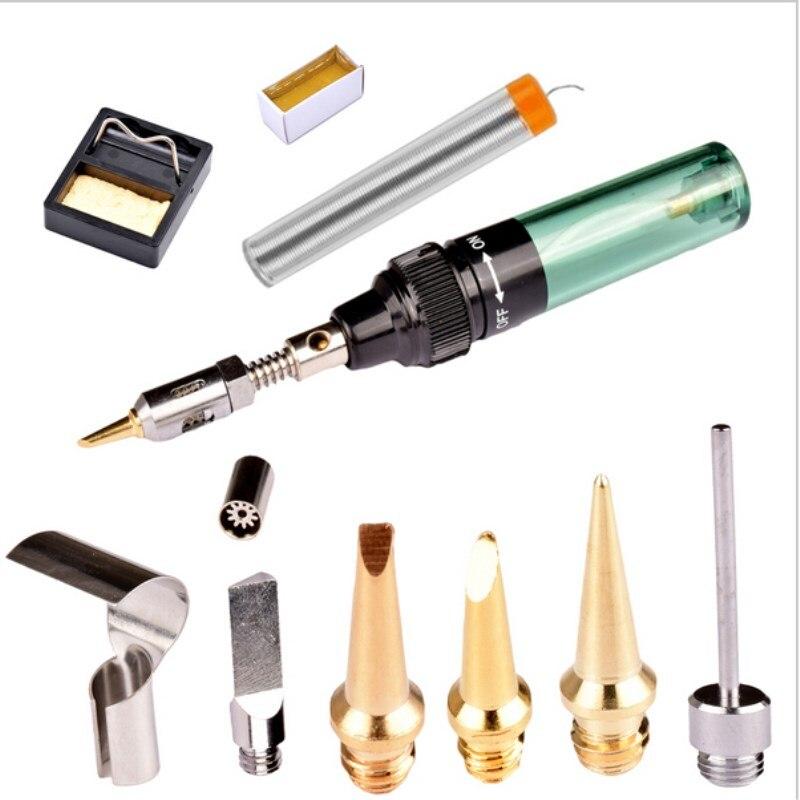 MT-100 gaz fer à souder Kit colophane support à souder pince à épiler coup torche sans fil fer à souder outils de soudage