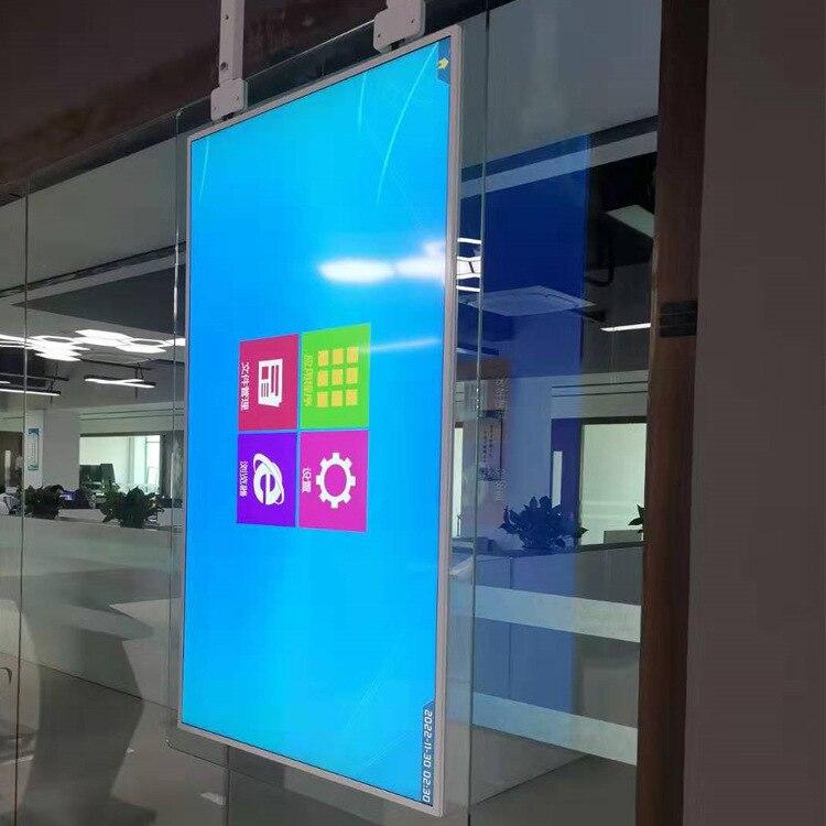 Shopping Malls Store Restaurant 55'' Inch Lcd Advertising Display Monitor High Brightness Glass Lcd Display