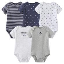 Jumpsuit Baby Short-Sleeve Infantil-Costume-Set Newborn Ropa-De-Bebe Spring 5pcs Cotton