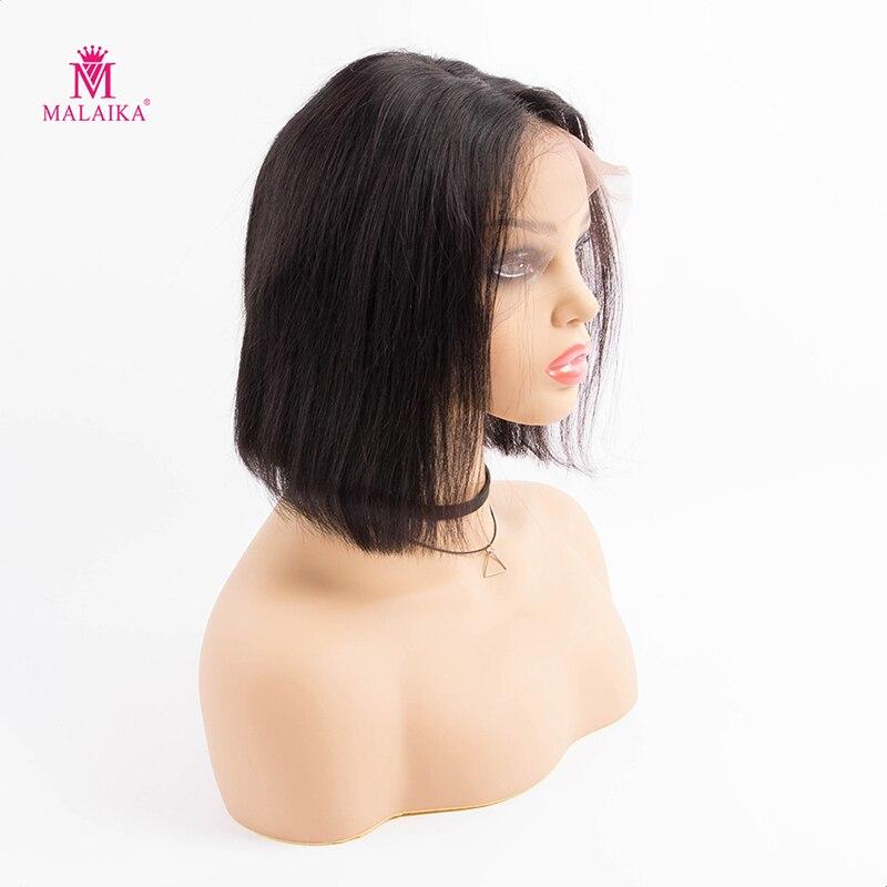 MALAIKA Синтетические волосы на кружеве боб парики с детскими волосами плетение прямые человеческие волосы для наращивания волос с детскими