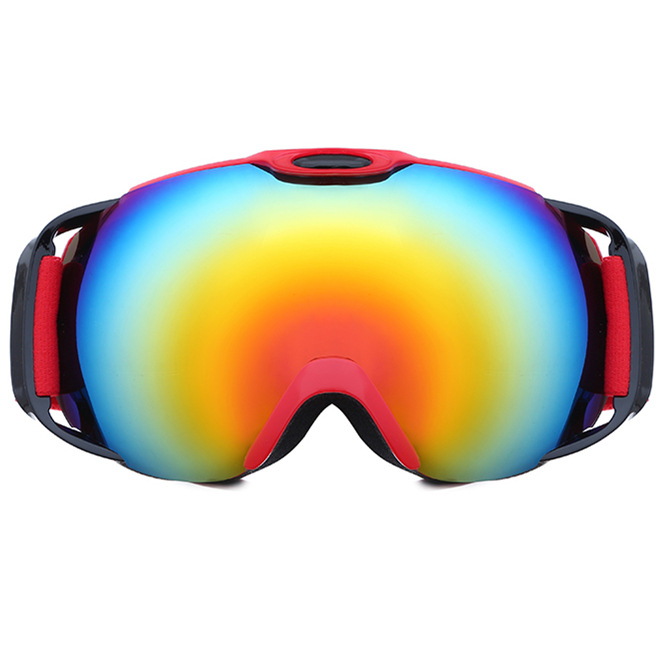 Wholesale Profession High-End Ski Goggles Outdoor Equipment Mountain Climbing Eye-protection Goggles/Double Layer Anti-fog HX05