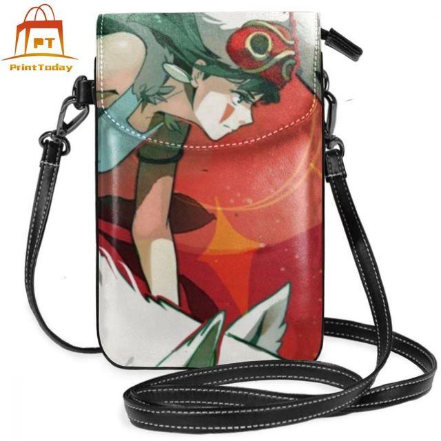Studio Ghibli Shoulder Bag Mononoke Hime Leather Bag Student Slim Women Bags Crossbody Womens Trending Travel High quality Purse