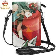 Studio Ghibli torba na ramię Mononoke Hime skórzana torba Student Slim kobiet torby Crossbody kobiet trendy podróży wysokiej jakości torebka