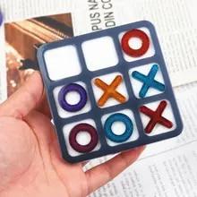 Mirror Jewelry-Tools Casting-Mold Craft Chess Game Tic Tac Handmade-Making Uv-Epoxy Diy Resin