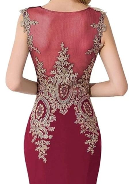 HOT SALE vestido de festa Prom dresses 2021 Long Mermaid Dresses Gold Appliques Royal Blue Kaftan Dubai dress Formal Party Dress 4