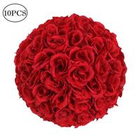 10Pcs 25CM Flower Balls Artificial Flowers Wedding Decoration Valentine's Day Wedding Party Home Office Cafe decoration Crafts