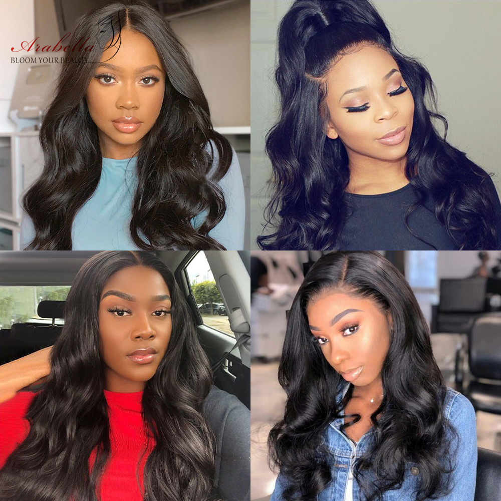 Body Wave Lace Frontal Wig  Hair 150% 180% Density 13X4 Lace Front Wig Arabella  Lace Front  Wigs 5