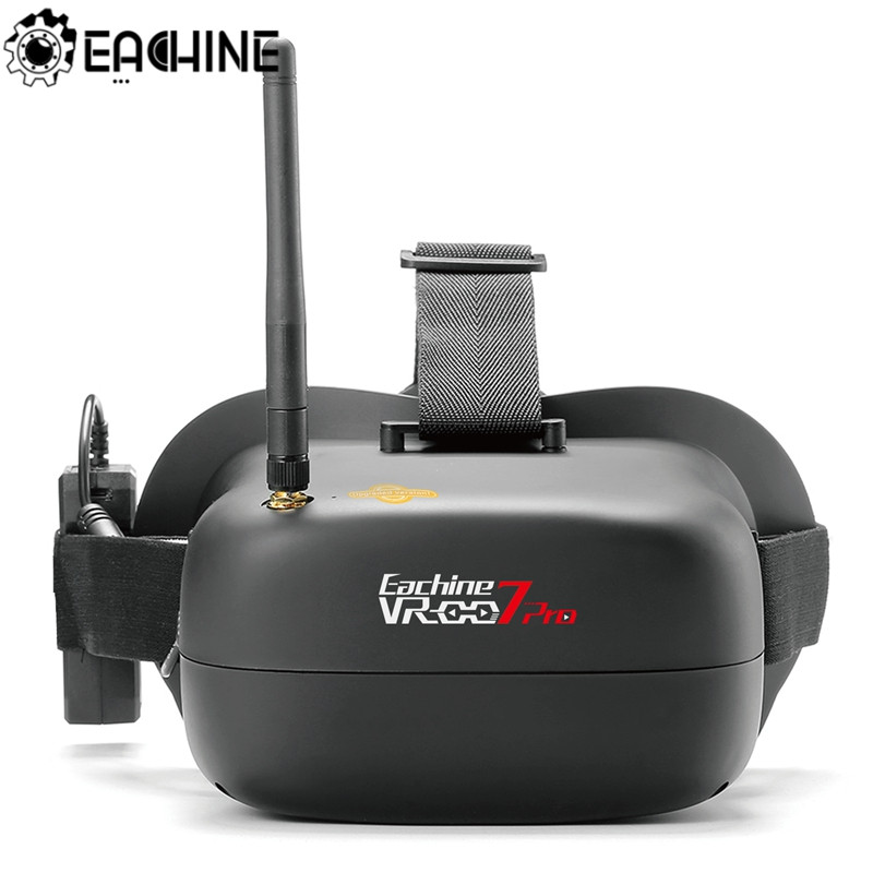 Eachine VR-007 Pro VR007 5.8G FPV Goggles 4.3 Polegada 40CH Com Bateria 3.7 mAh 1600 V para RC Zangão