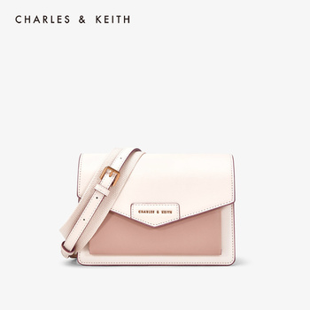 CHARLES&KEITH New Arrival for Spring 2020   CK2-80680780-1 Women's Front Flap Envelope bag Crossbody Bag