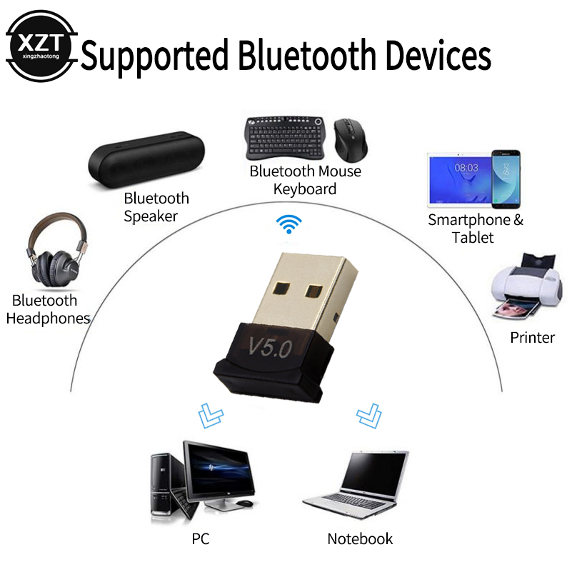 USB WIFI Bluetooth 4.0 Music Audio Receiver Dongle Adapter Converter for Speaker