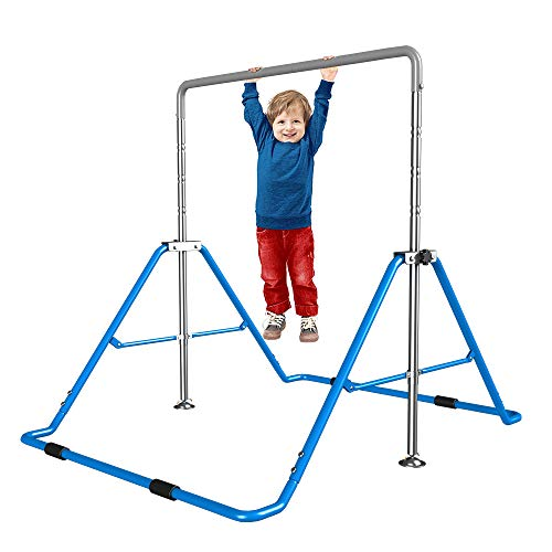 Yi Xuan Children's Kids Gymnastics Bar Single Pole Primary Security Safly Fun Training Indoor Home Height Adjustable Folding