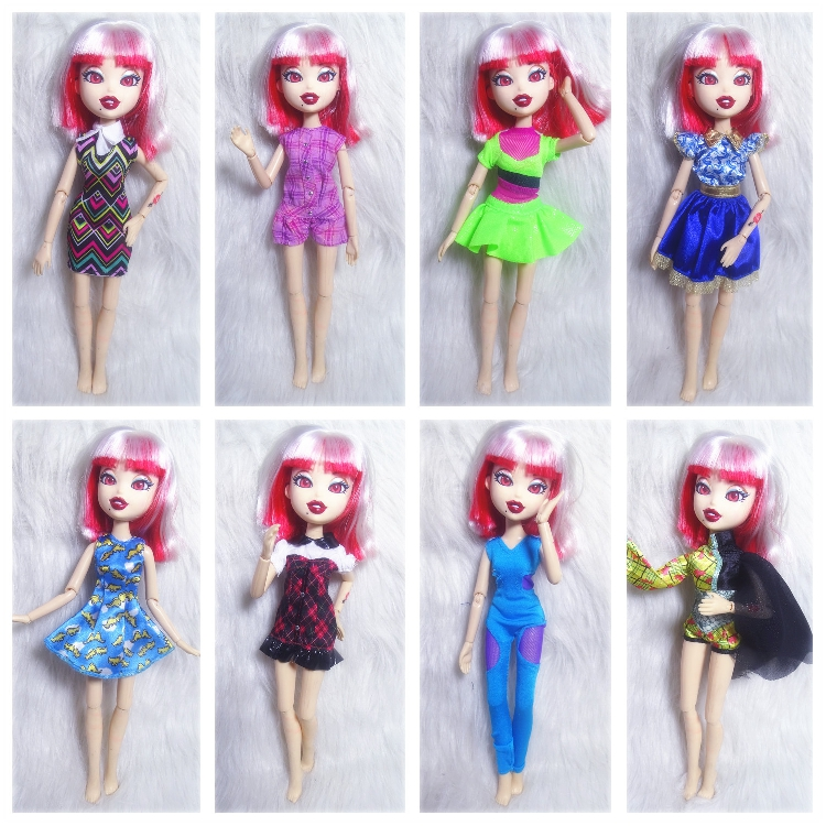 Fashion Action Figure Original Bratz Doll Clothes Dress Up Doll Street Beautiful Girl Best Gift Monster High School Doll Clothes