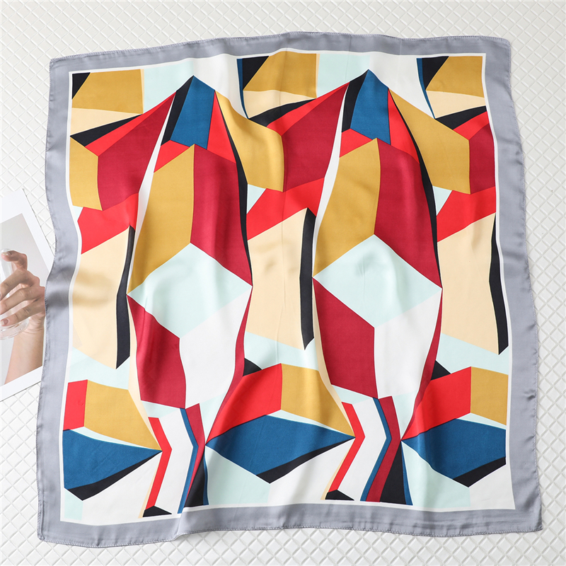 2020 Summer Silk Square Scarf Hair Neck Scarves Head Wraps For Women Female Bandana Headkerchief Fashion Shawls Accessories