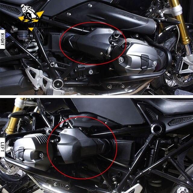 RnineT รถจักรยานยนต์ ABS ป้องกันเครื่องยนต์หัวสำหรับ 2014 2017 BMW R Nine T R9T 2015 2016