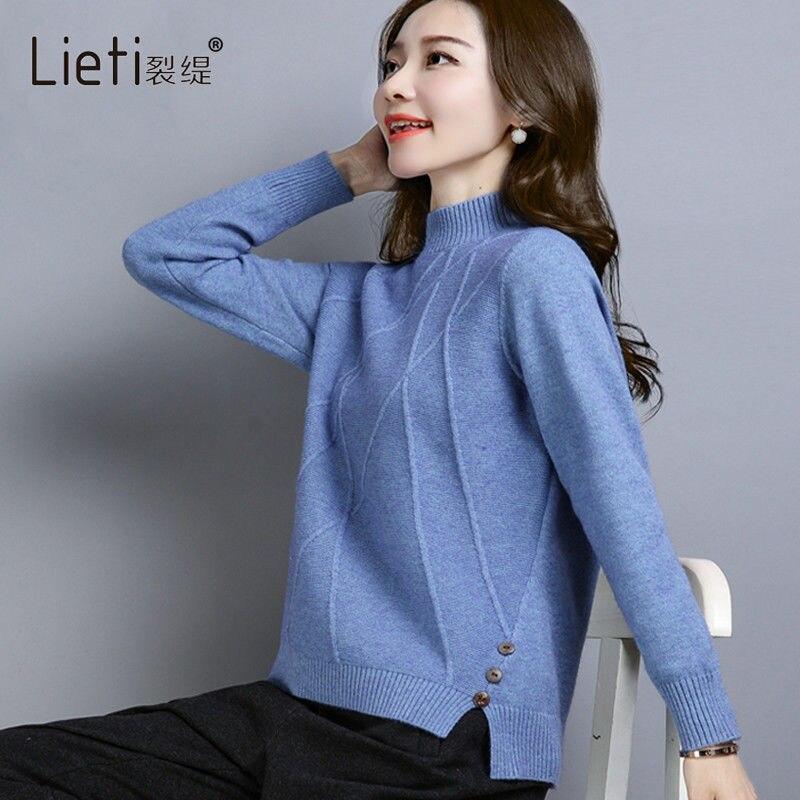 Fvpdd1 2019 New Autumn Winter Women Fashion Casual Warm Nice Sweater Turtleneck  Korean Sweater