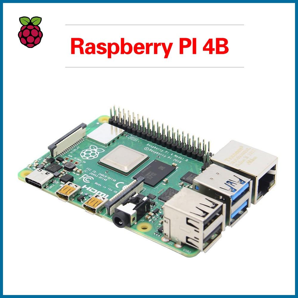 S ROBOT New 2019 Official Original Raspberry Pi 4 Model B Development Board Kit RAM 1G/2G/4G 4 Core CPU 1.5Ghz RPI7