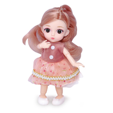1/12 Moveable Joint 16cm BJD Mini Baby Doll Nude Women Body Fashion Dolls Toy For Girls Gift Baby Girl Summer Clothes Toys 1 12 original girls bjd doll 14 joint baby doll toy lovely princess body nude bjd doll dress up baby toy for girls gift kids toy