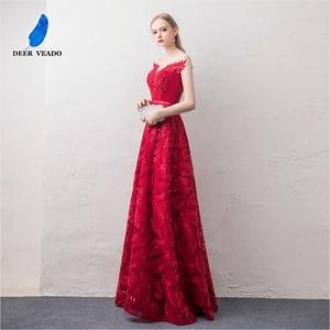 Image 3 - DEERVEADO קצר שרוולים ערב שמלות ארוך אישה אירוע מסיבת שמלות רשמיות שמלת ערב שמלת חלוק דה Soiree XYG822