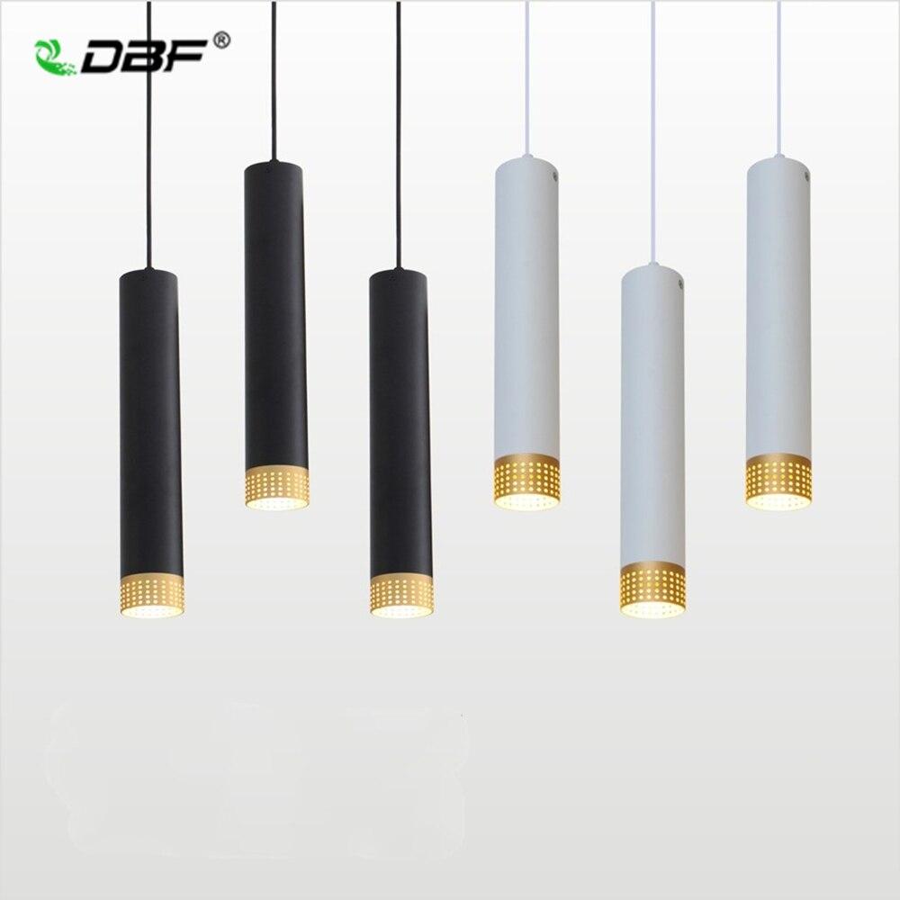 [DBF]LED Moderne Anhänger Licht Lange rohr 5W Anhänger Lampe Insel Bar Counte Shop Zimmer Küche licht leuchten hanglamp leuchte