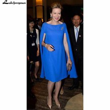 Modest Bright Blue Mother of Bride Dresses