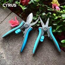 Tesouras podador secateurs tesoura de poda bypass sharpener clippers ferramenta de jardim bonsai flor cultivando sólido snip floral mini