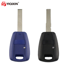 YIQIXIN 1 Button Remote Key Shell For Fiat Punto Doblo Bravo Auto Transponder Key Shell With SIP22 Blade Black Case Cover