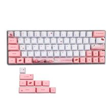 Dye-Sublimation Mechanical Keyboard Cute Keycaps PBT OEM Profile Keycap For GH60 GK61 GK64 Keyboard g mky bilibili 108 keycaps cherry profile dye sublimation keycap thick pbt keycaps mx switch mechanical keyboard keycap