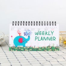 Korean Stationery Notebook Cartoon Animals Can Tear Week Plan Schedule Book Student Portable Coil Flip Book toto schmugge soccer the 6 week plan