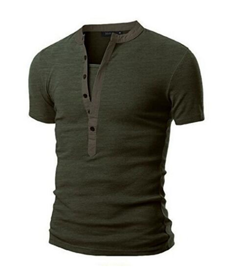 Fashion New Brand Clothing Men's Football Shirt Fitness Products New Men's Neck Stitching Short Sleeve T-shirt