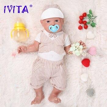 IVITA-muñecas Reborn de silicona para niños, juguete Original de 59cm y 5210g,...