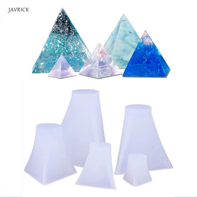 5Pcs Pyramid Silicone Molds Resin Casting Mold Orgone Pyramid Mold Jewelry Tools For DIY Making Accessories