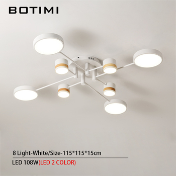 BOTIMI Home Decor LED Ceiling Lights For Living Room Round Metal Ceiling Lamps Surface Mounted Dining Lustres Bedroom luminaires 7