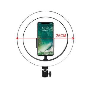 Image 3 - Live Stream Beauty Self Timer Fill Light Photography Tripod Adjustable LED Portable Night Enhanced Mobile Phone Ring Lamp