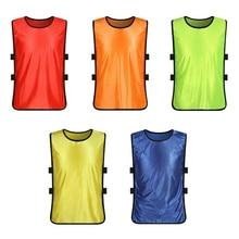 1Pcs Children Football Training Vest Training Uniform Clothes Team Sports Soccer Training Jersey Bib Vest Sportswear Accessories