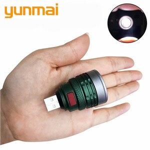 Новый USB удобный мощный светодиодный фонарик портативный мини масштабируемый 3 режима карманный фонарь Lanterna lightitng для охоты и кемпинга