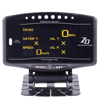 10 in 1 Full Kit Sports Package BF CR EXT TEMP Advance ZD Link Meter Digital Auto Gauge Digital tachometer RPM Oil Pressure