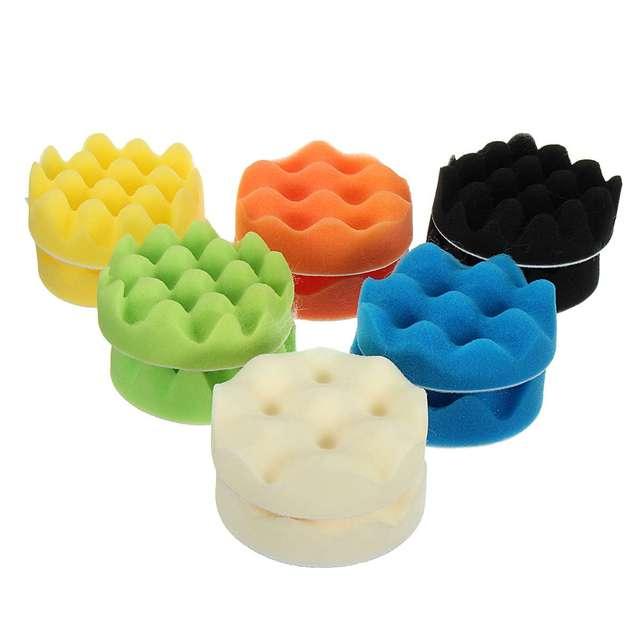 16 pièces 4 pouces éponge polissage mousse cire tampons de polissage Kit composé Auto voiture perceuse