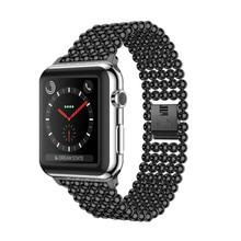 цена на Stainless Steel Strap For Apple Watch 5 4 Band 44mm 40mm Band iWatch Series 4 3 2 1 42mm/38mm Wrist Link Bracelet Belt