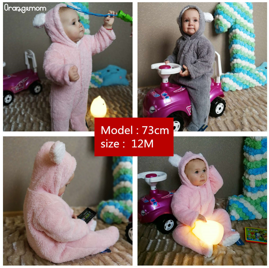 ALI shop ...  ... 33031280770 ... 2 ... Orangemom official Newborn Baby Winter Clothes Infant Baby Girls clothes soft fleece Outwear Rompers new born -12m Boy Jumpsuit ...