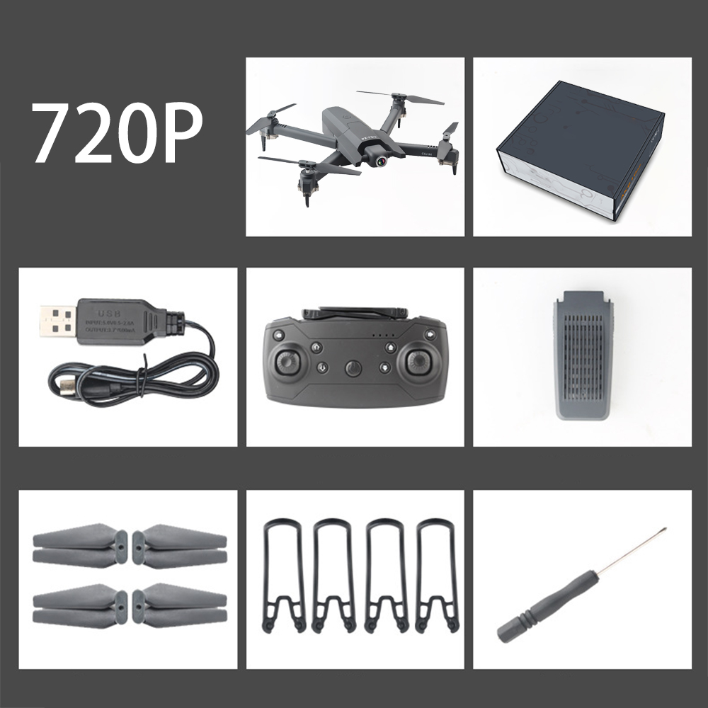 CSJ X4 Folding FPV Drones 6 Asis Video RC Quadcopter With 720P / 1080P / 4K Camera Postioning Altitude Hold Follow Me Mode toy