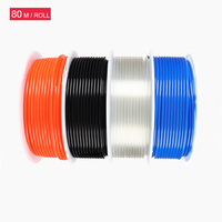 Free Shipping PU8*5 PU Hose 80M/Roll Hose for compressor air hose 8mm pneumatic hose 8mm air compreeeor hose Blue PU tube