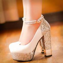 SARAIRIS 2020 New Top Quality Large Size 32 43 Bling Upper Pumps Shoes Women High Heels Sexy Party Wedding Bride Shoes Woman