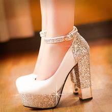 SARAIRIS 2020 Nuovo di Alta Qualità di Grandi Dimensioni 32 43 Bling Superiore Pompa I Pattini Delle Donne Degli Alti Talloni Sexy Del Partito di Nozze scarpe da sposa Scarpe Da Donna