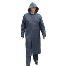 Impermeable negro largo para Hombre Poncho impermeable para Hombre chaqueta para Hombre Gabardina impermeable rompevientos 6RTH020(China)