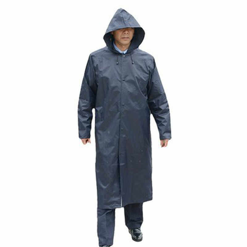 Impermeable negro largo para Hombre Poncho impermeable para Hombre chaqueta para Hombre Gabardina impermeable rompevientos 6RTH020