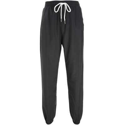 HOUZHOU Sweatpants kadınlar Joggers Hip Hop Baggy ter pantolon kadın Patchwork mektubu baskı siyah kadın pantolon spor eşofman altları