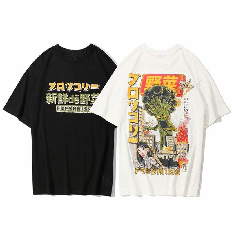 2019 Men T Shirt Harajuku Japanese Cartoon Monster T-Shirt Streetwear Summer Tops Tees HipHop Tshirt Oversized FPW9297